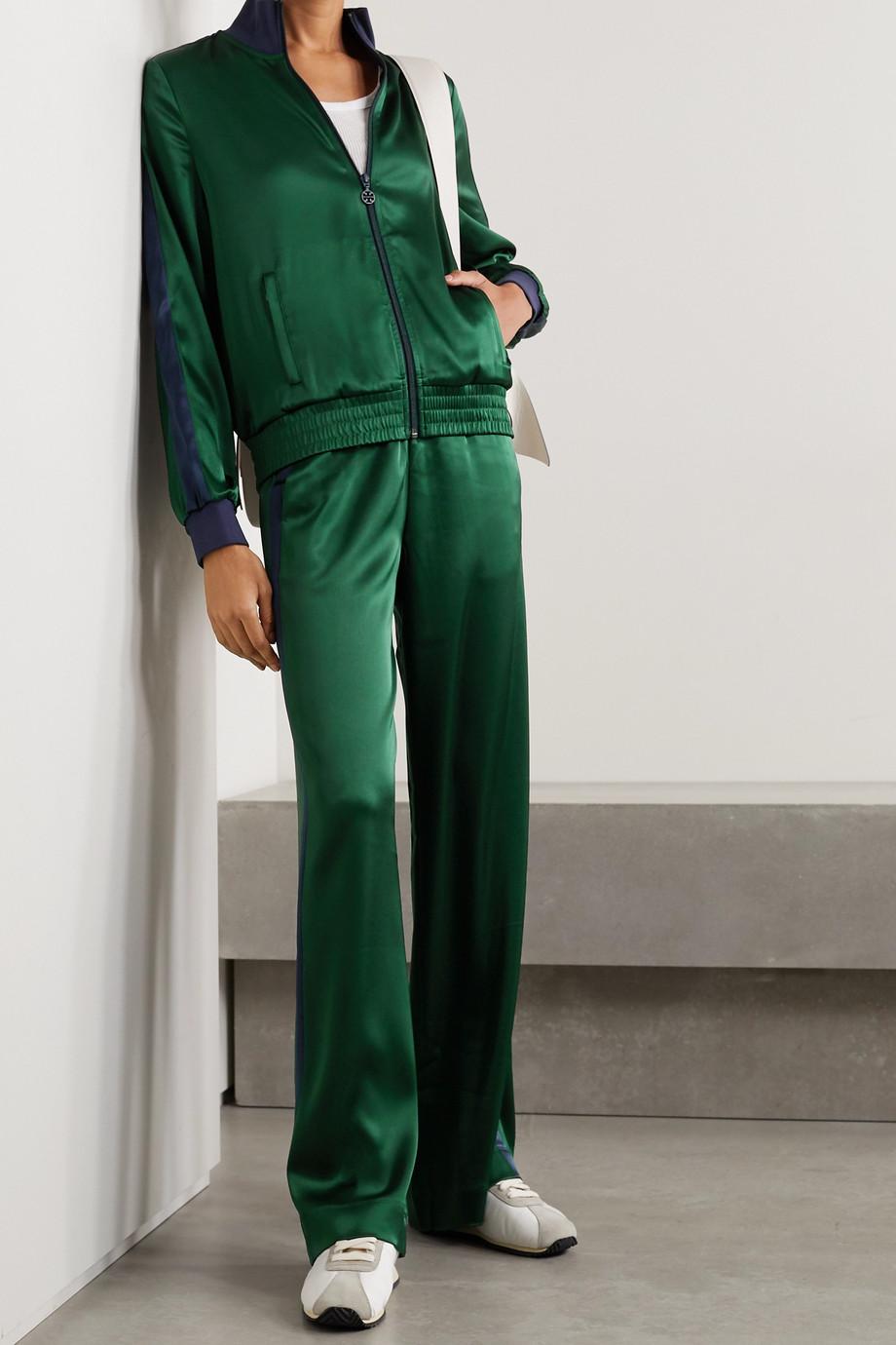 Tory Sport Striped satin track pants