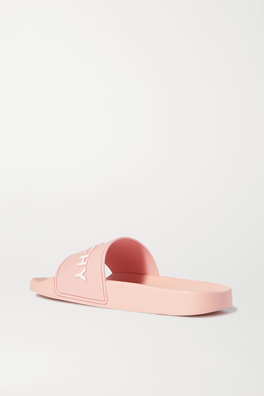 Givenchy Logo-embossed rubber slides