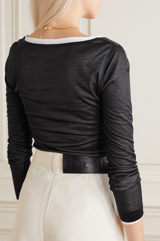 Loewe Haut en jersey de coton à superposition en soie