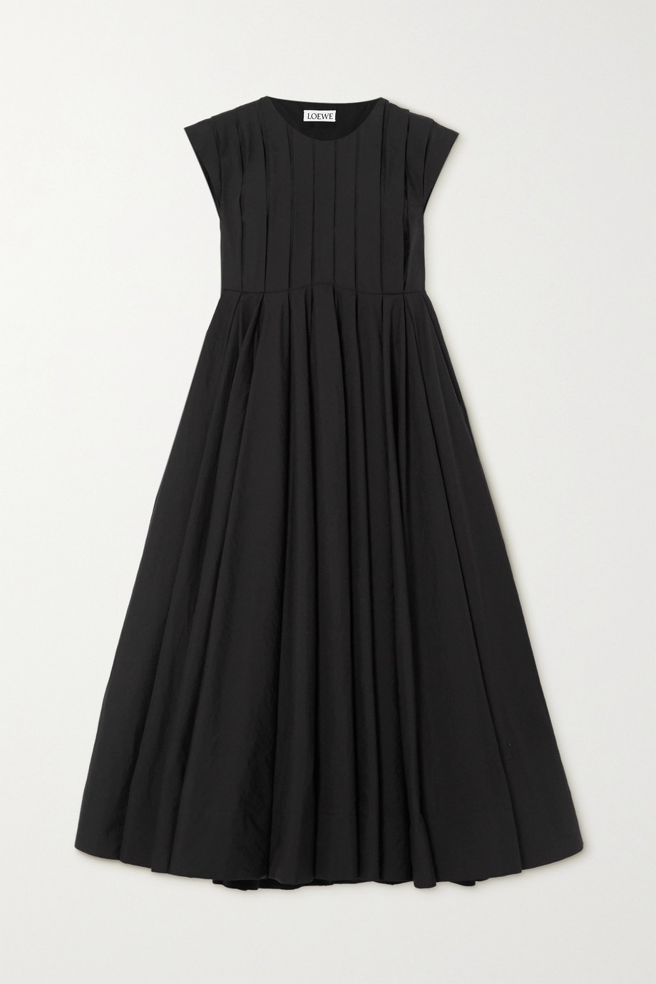 Loewe Pleated cotton-blend dress