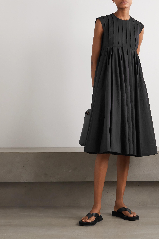 Loewe Pleated cotton-blend dress