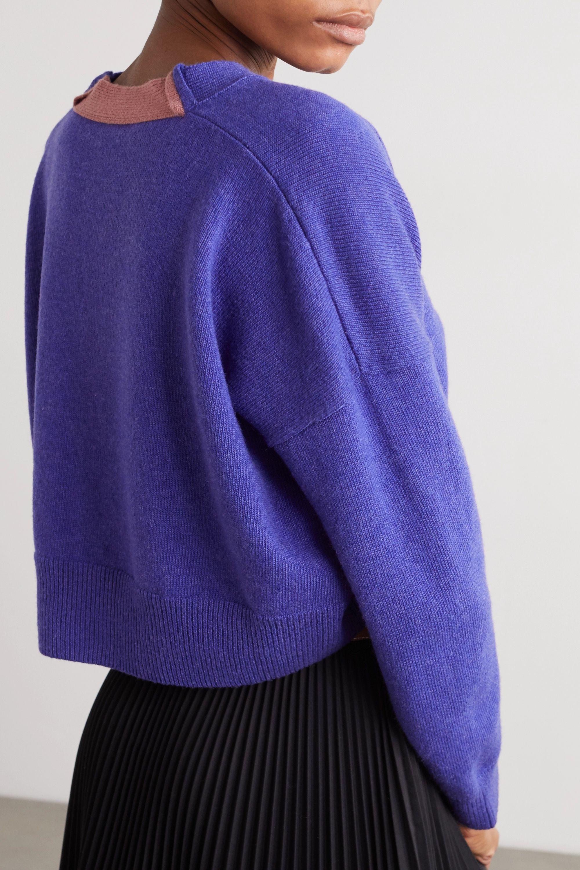Loewe Cardigan raccourci en laine à broderie