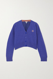Loewe Cropped embroidered wool cardigan