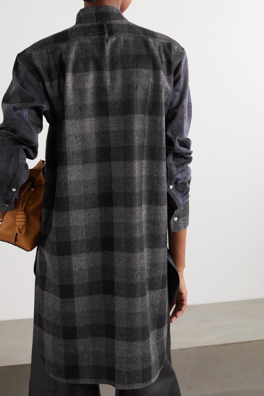 Loewe Checked wool-flannel shirt