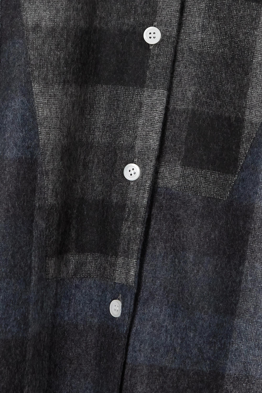Loewe Hemd aus kariertem Wollflanell