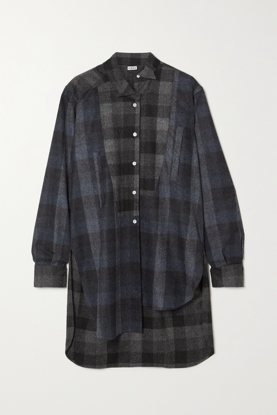 Loewe Checked wool-flannel shirt