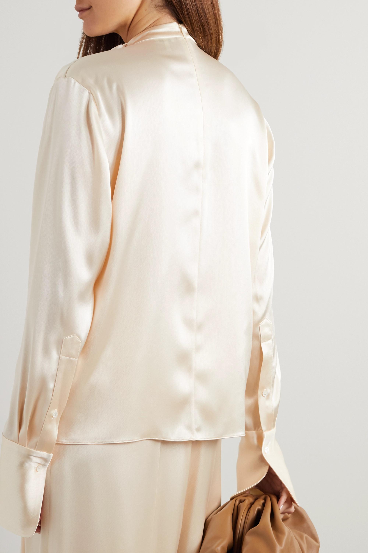 Loewe Lavalliere tie-detailed hammered-satin blouse