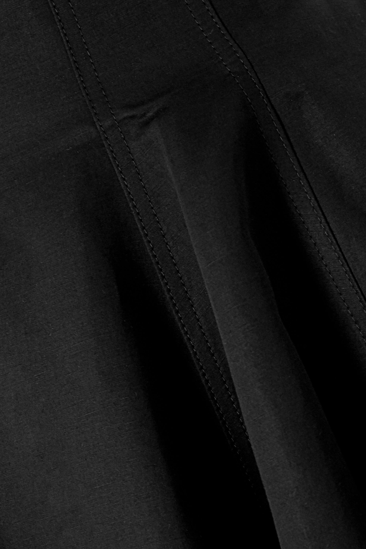 Loewe Pleated linen and cotton-blend midi skirt