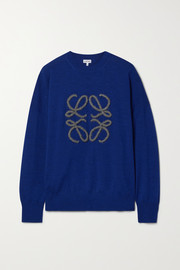 Loewe Embroidered wool-blend sweater