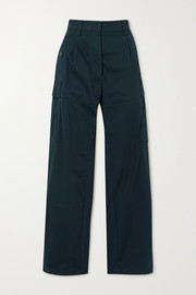 Loewe Pleated cotton-twill cargo pants