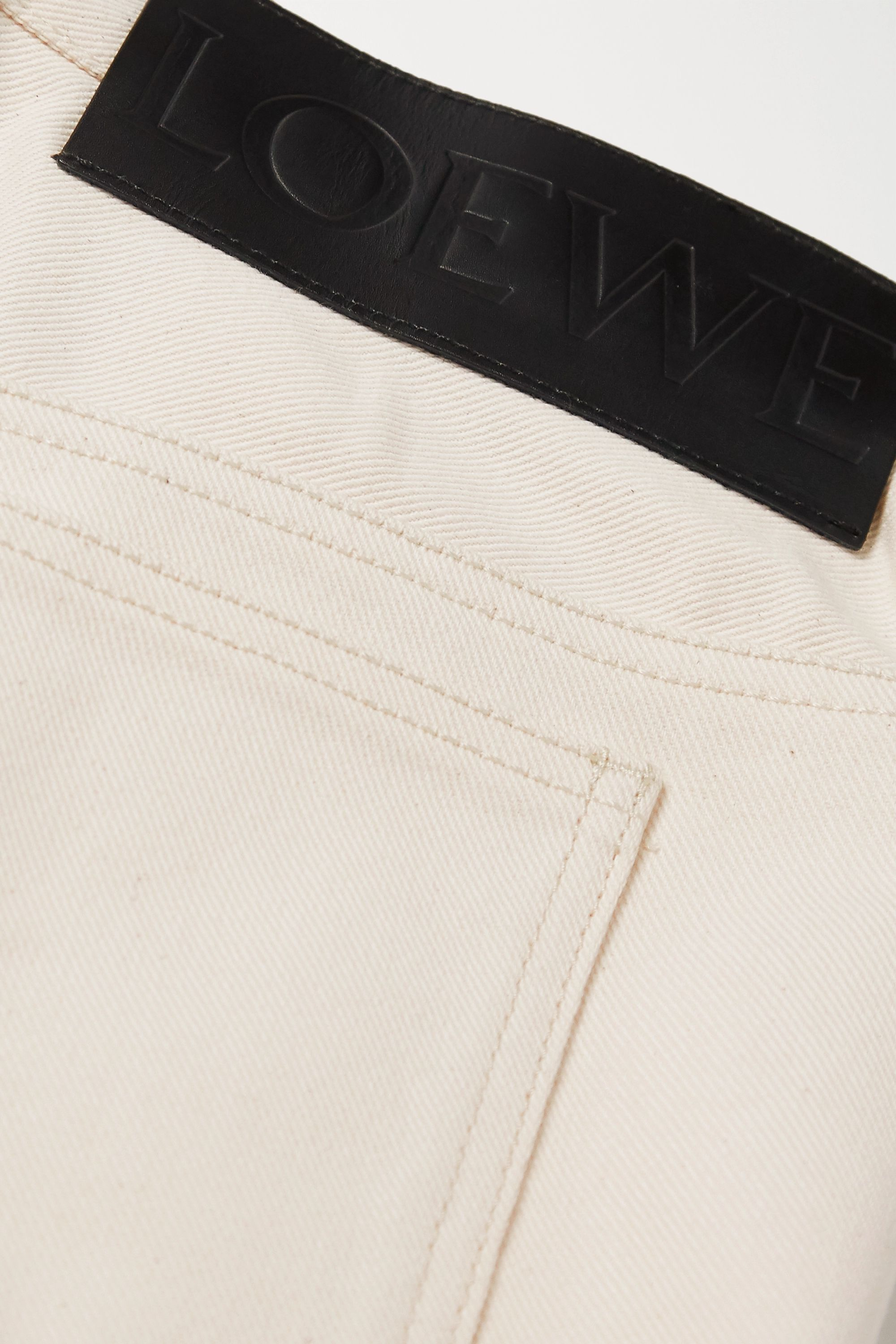 Loewe Cropped pleated high-rise jeans