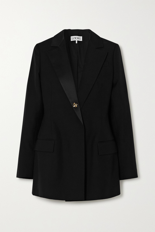 Loewe Satin-trimmed wool blazer