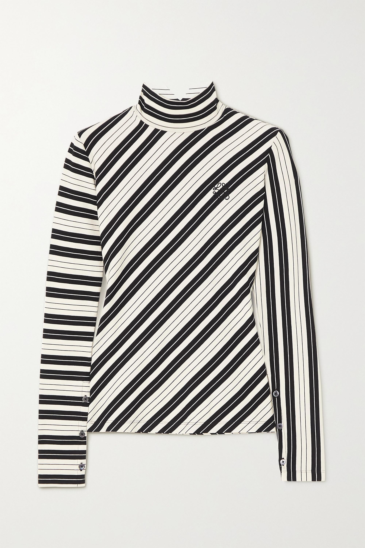 Loewe Striped cotton-blend jersey turtleneck top