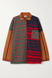 Loewe Oversized patchwork wool-blend sweater