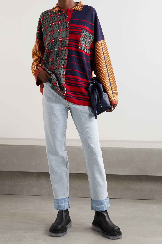 Loewe Oversized patchwork wool-blend sweater