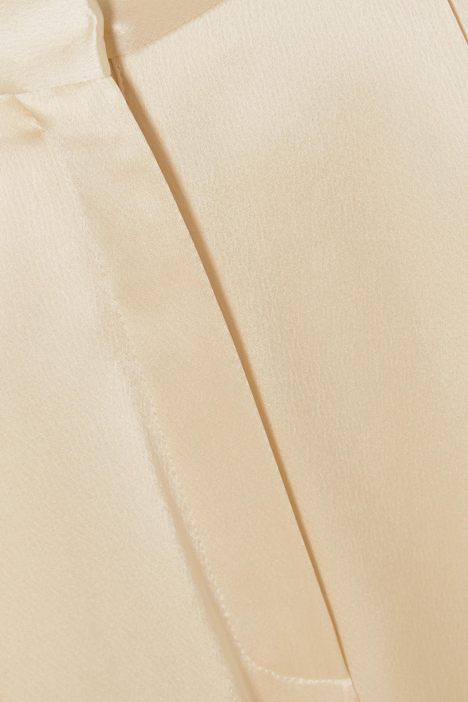 Loewe Pleated hammered-satin wide-leg pants