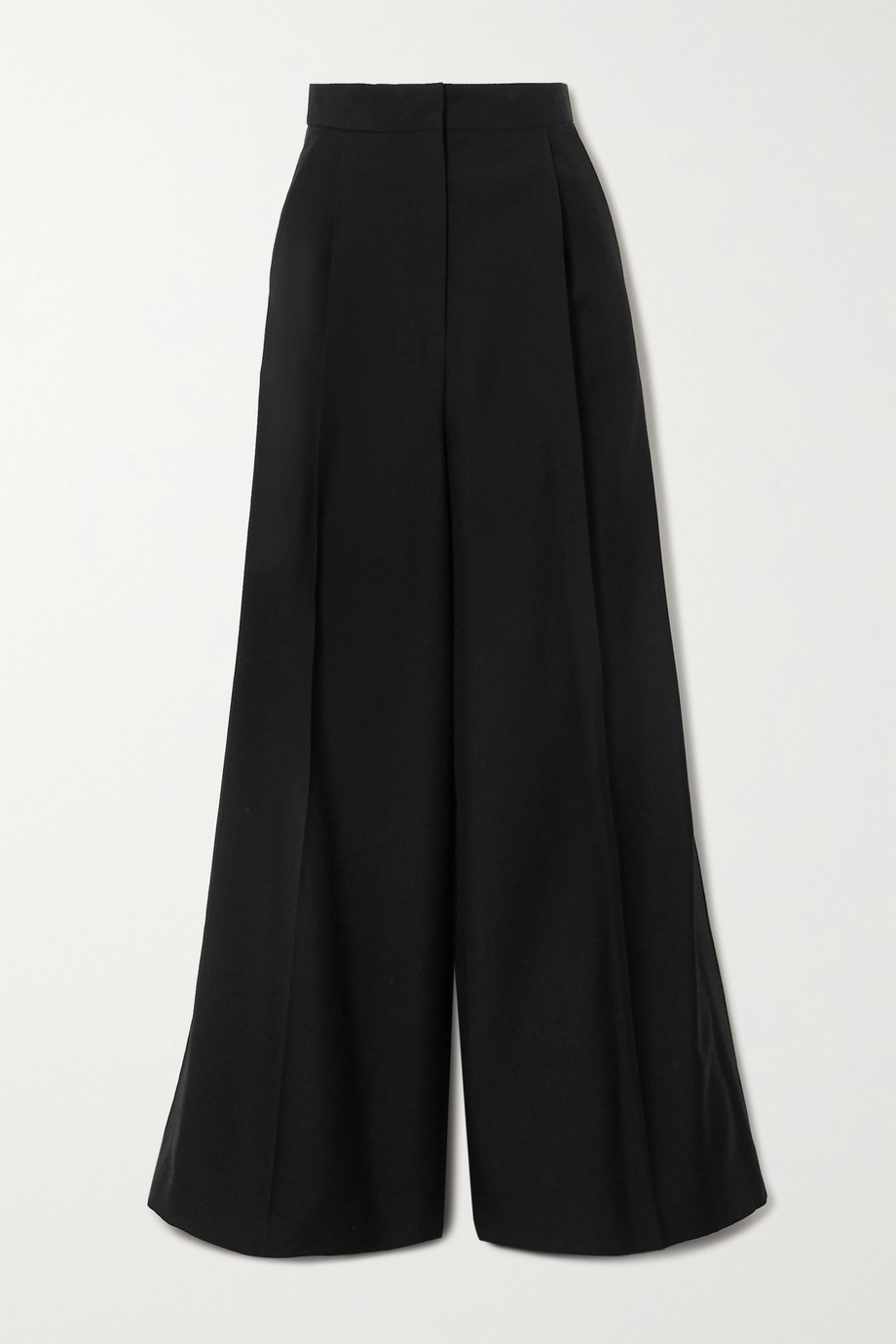 Loewe Satin-trimmed wool wide-leg pants