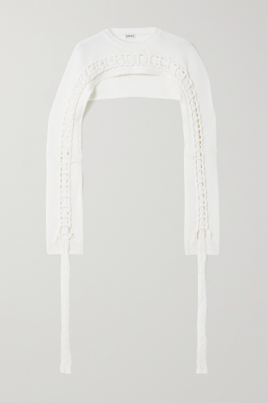 Loewe Cropped braided wool sweater