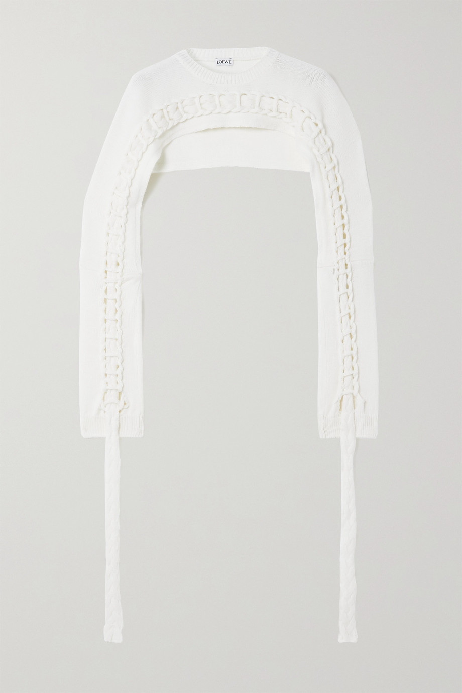 Loewe Cropped braided wool sweater