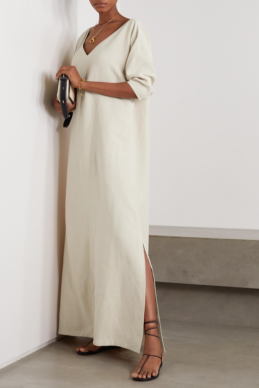 Cortana Cenit linen and cotton-blend maxi dress