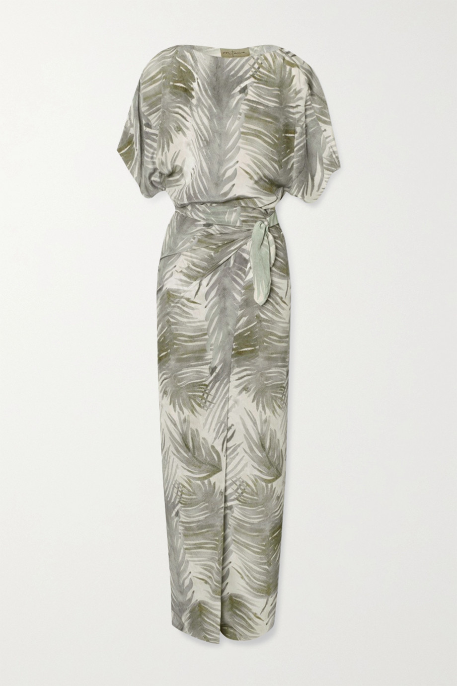 Cortana Cuba wrap-effect printed silk maxi dress