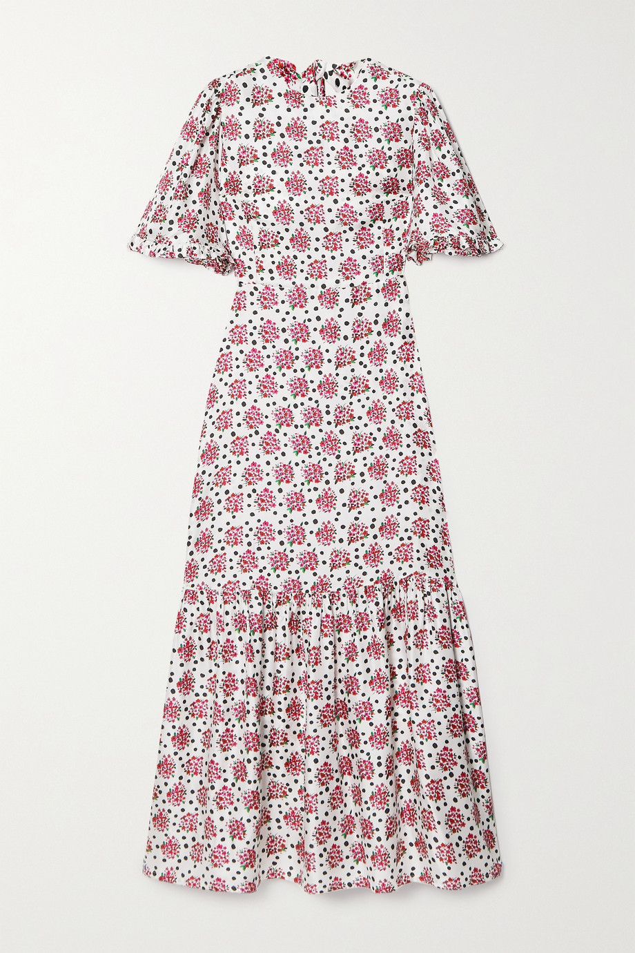 Seren Cece Maxikleid aus Seiden-Twill mit Blumenprint und Rüschen