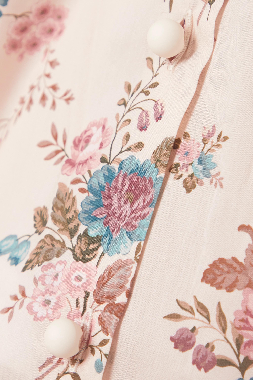 Anna Mason Chemisier coton à imprimé fleuri et à ceinture Star