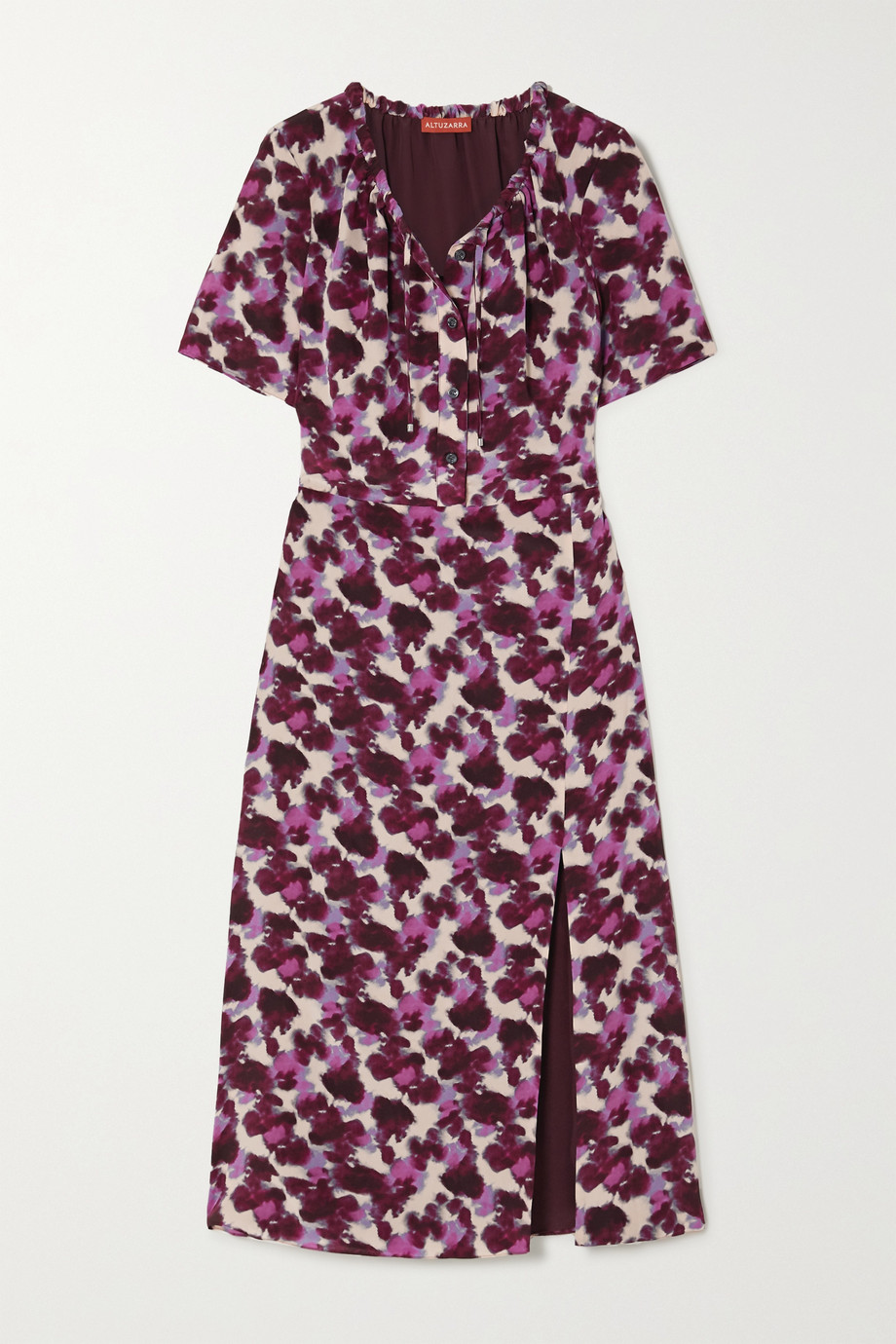 Altuzarra Ruby tie-detailed printed silk crepe de chine midi dress
