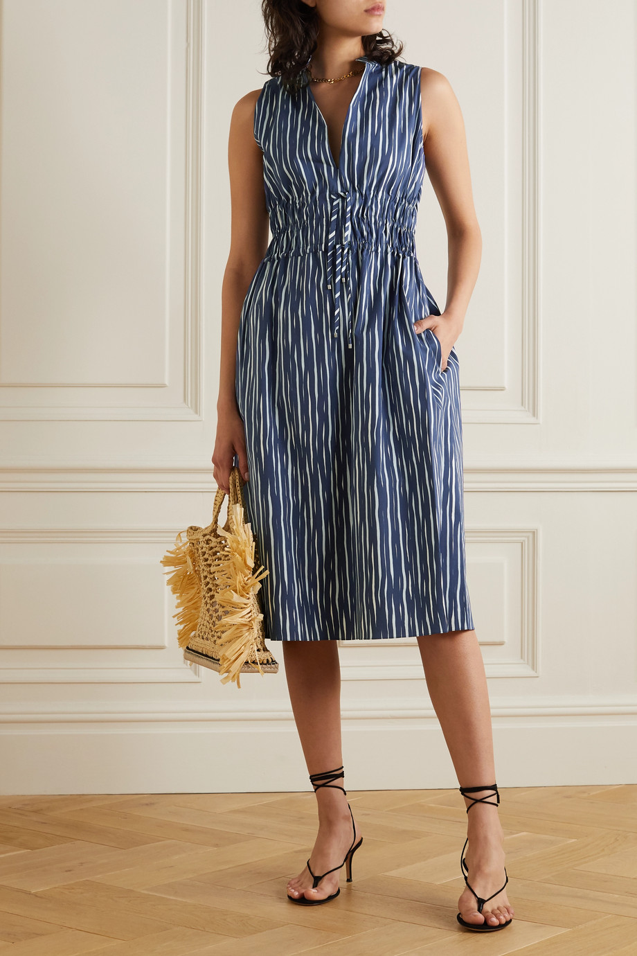 Altuzarra Striped cotton-blend poplin dress