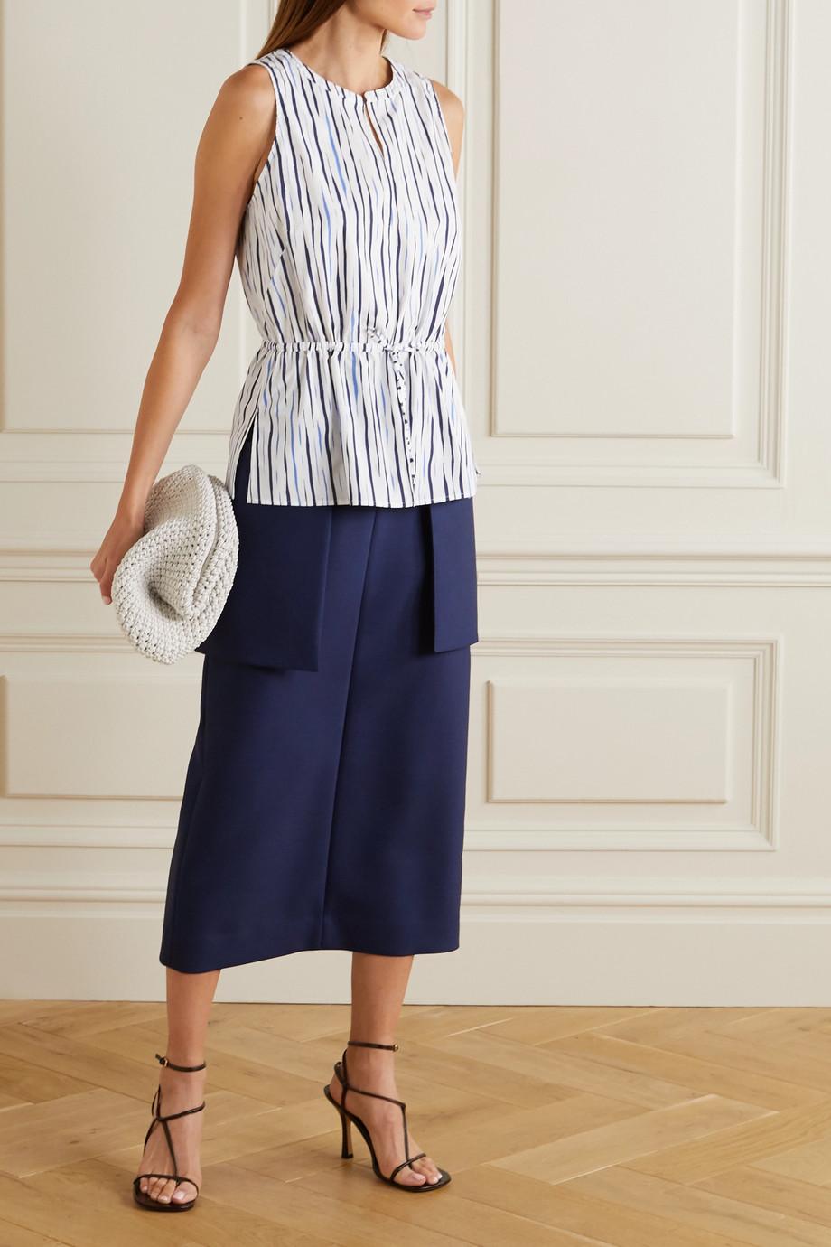 Altuzarra Glo striped cotton-blend poplin blouse
