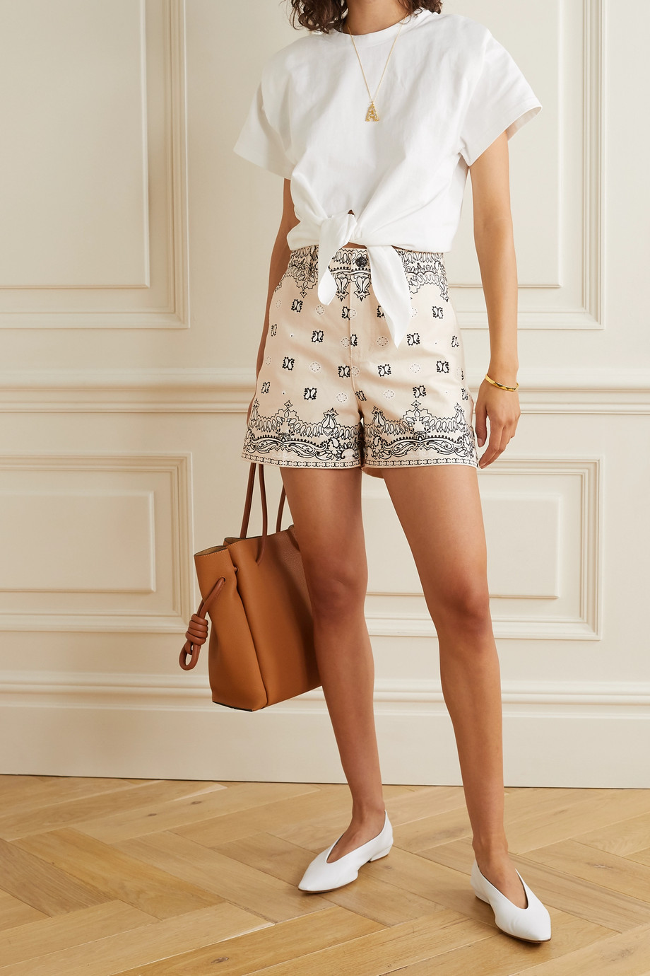 Tory Burch Paisley-print cotton-canvas shorts