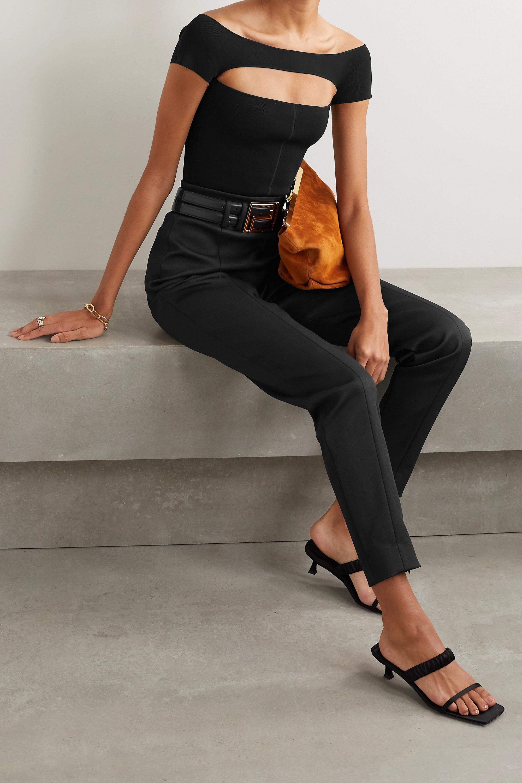 Khaite Talie cutout stretch-knit bodysuit