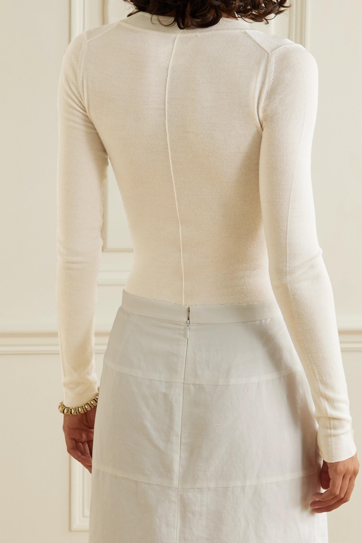 Khaite Clover wool-blend thong bodysuit