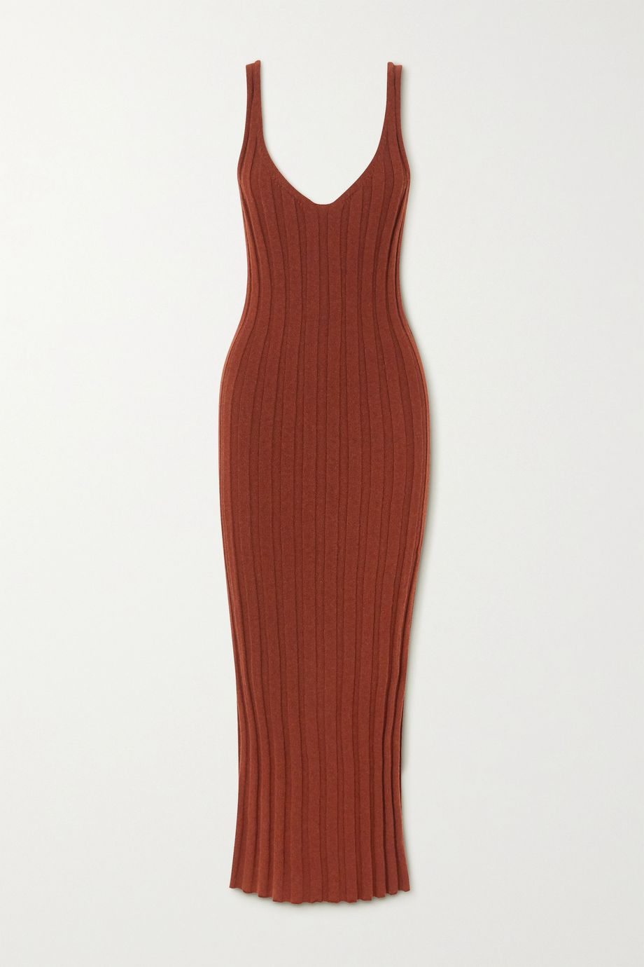 Khaite Louis ribbed cashmere dress