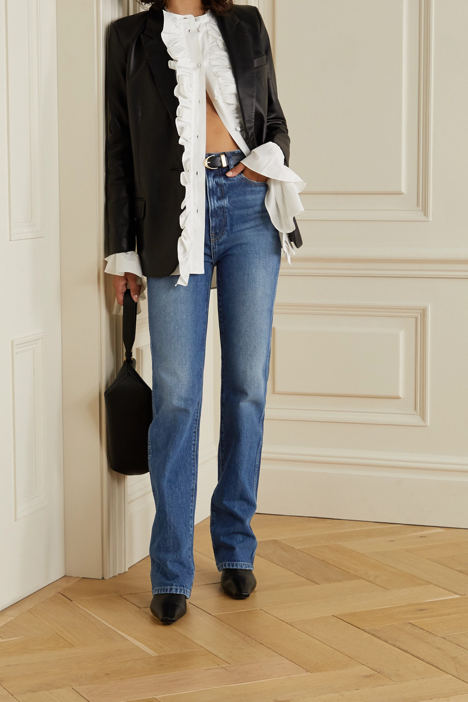 Khaite Danielle high-rise straight-leg jeans