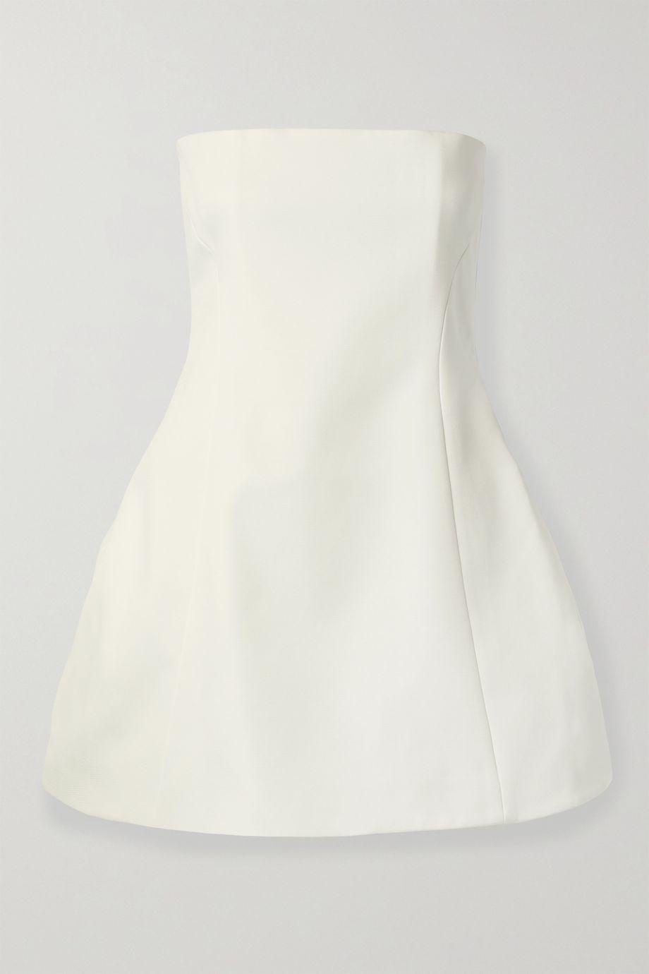 Khaite Ginger strapless faille mini dress