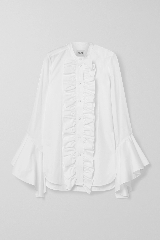 Khaite Keith ruffled cotton-poplin shirt