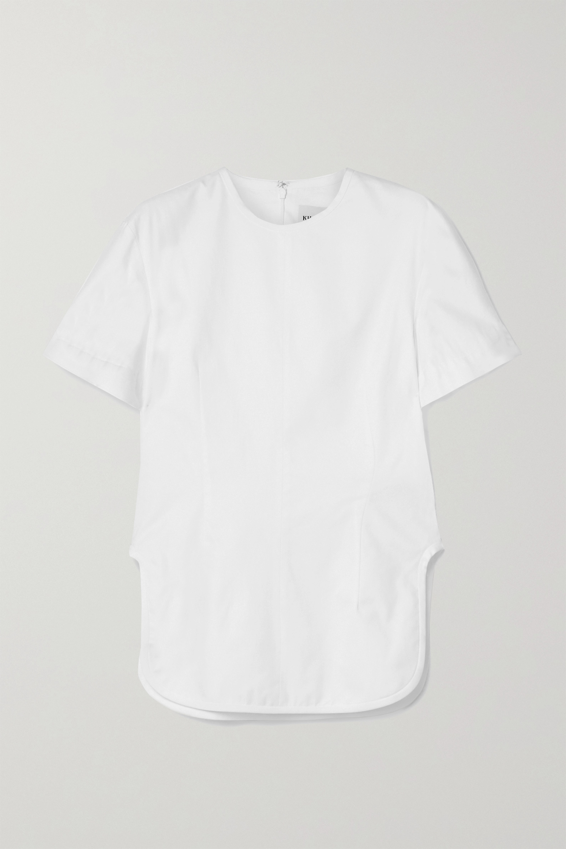 Khaite Renny cotton-poplin top