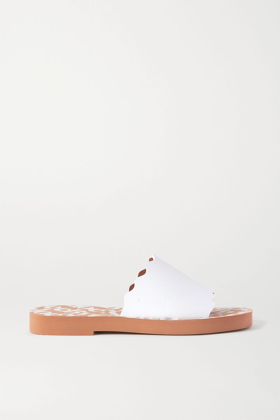 See By Chloé Scalloped leather slides