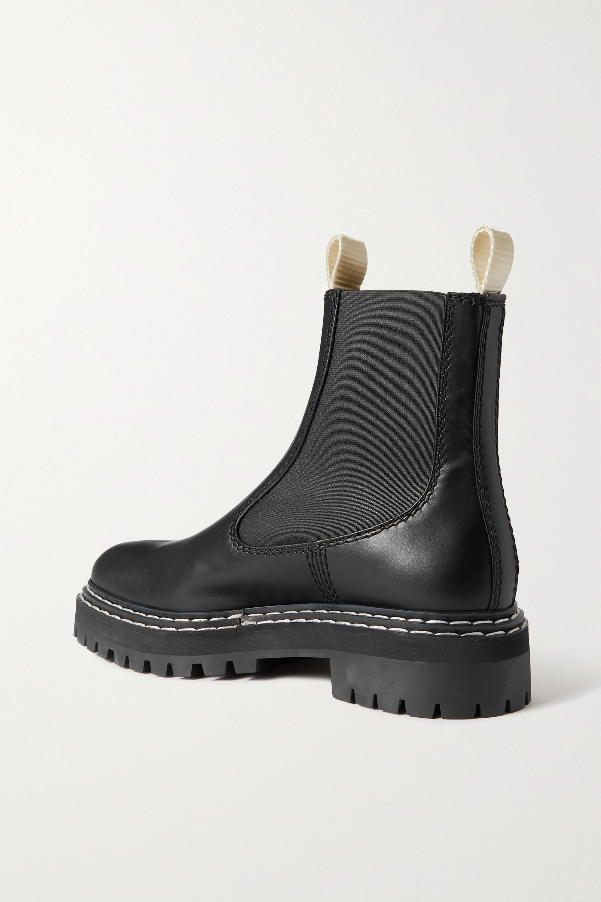 Proenza Schouler Topstitched leather Chelsea boots