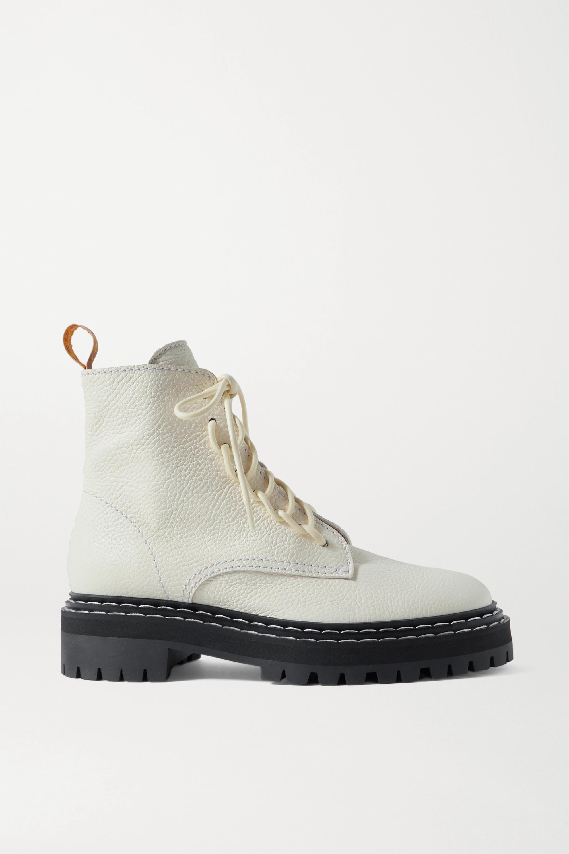 Proenza Schouler 纹理皮革踝靴