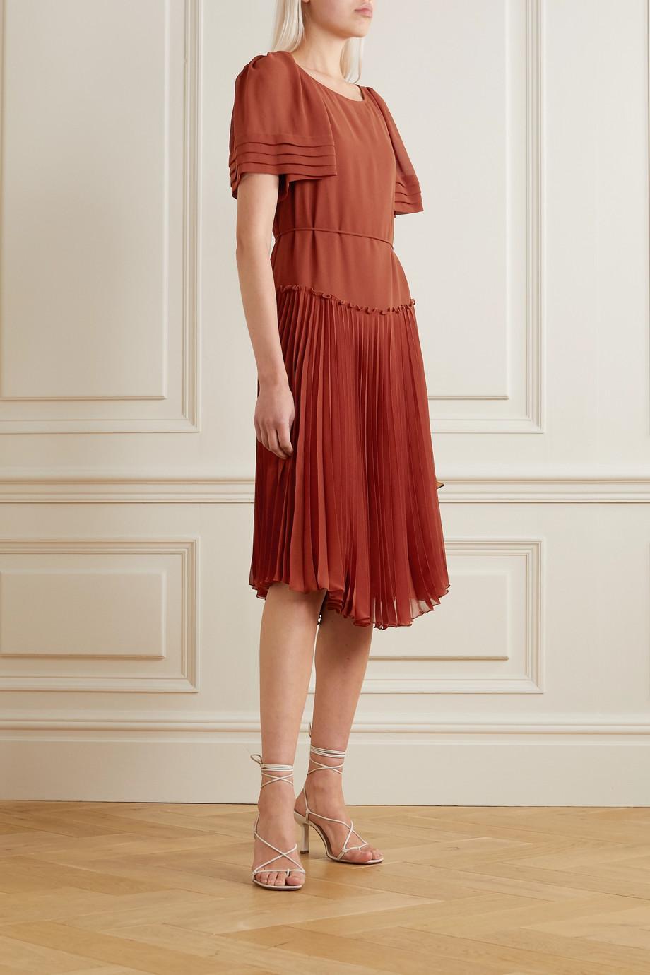 See By Chloé Robe midi en mousseline à plis