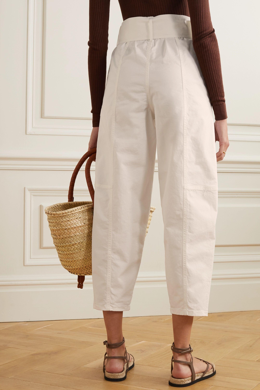 See By Chloé Pantalon fuselé en serge de coton stretch à ceinture