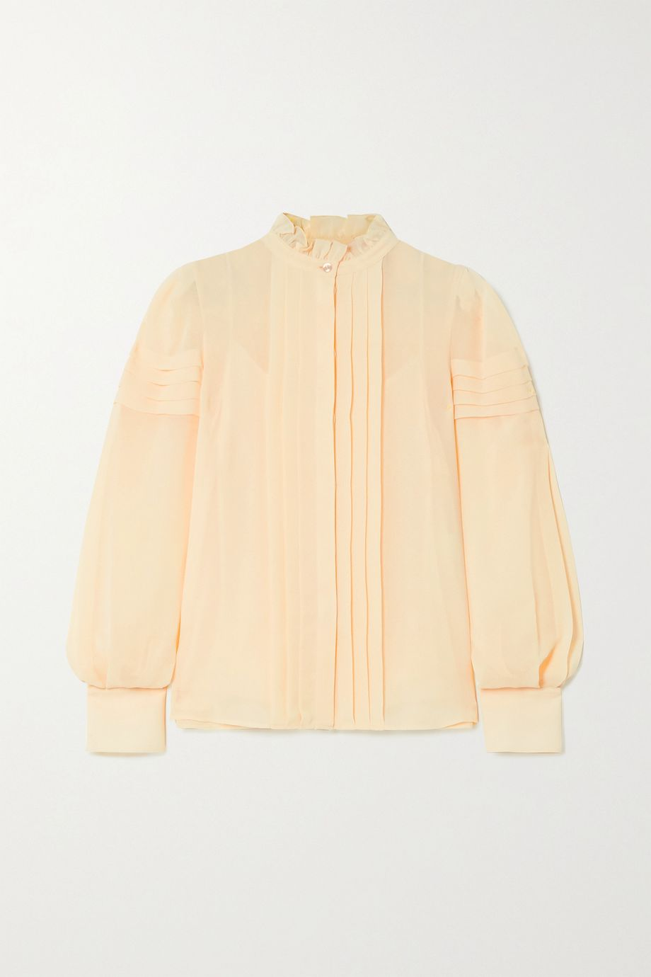 See By Chloé Ruffled pintucked georgette blouse