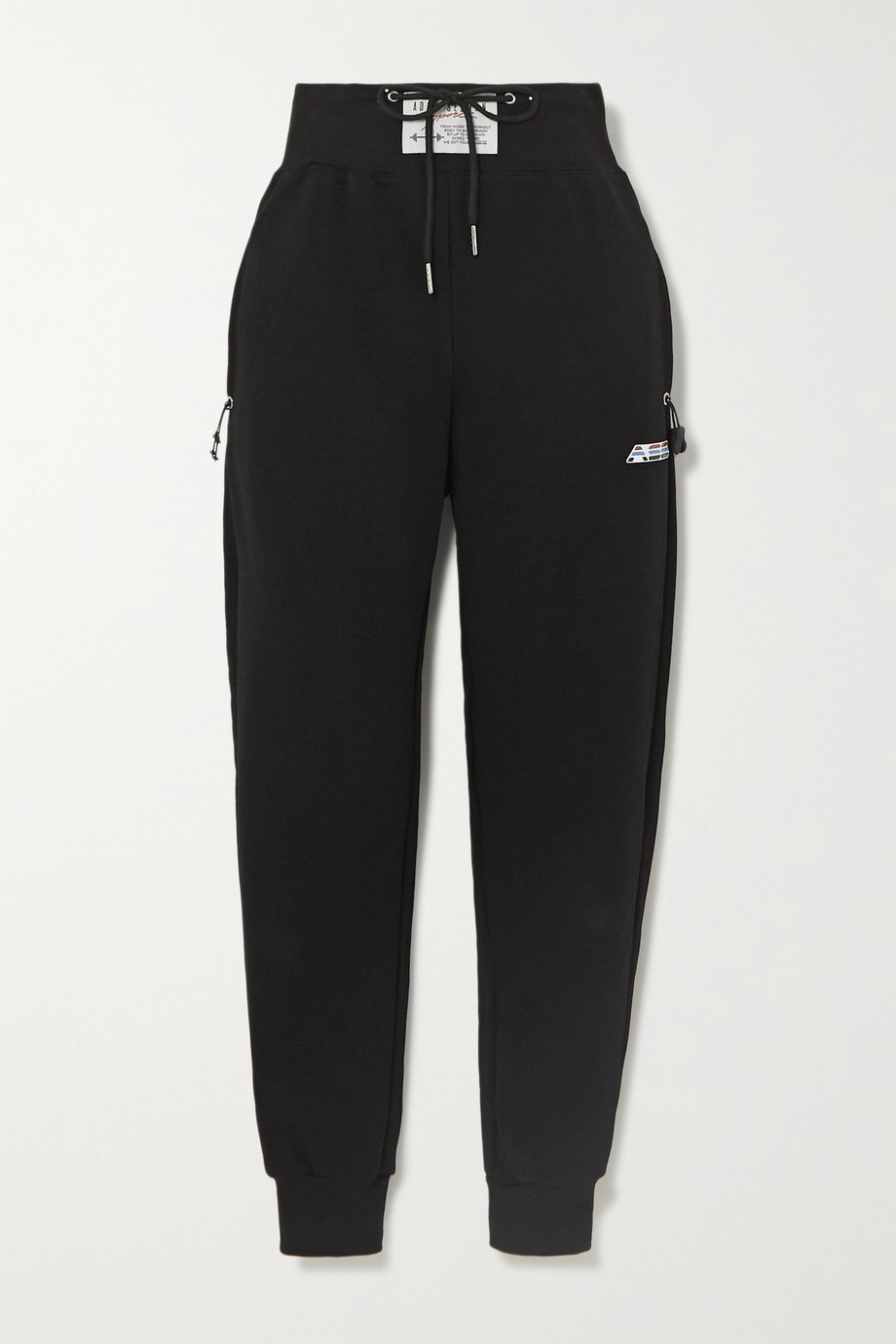 Adam Selman Sport Cotton-blend jersey track pants