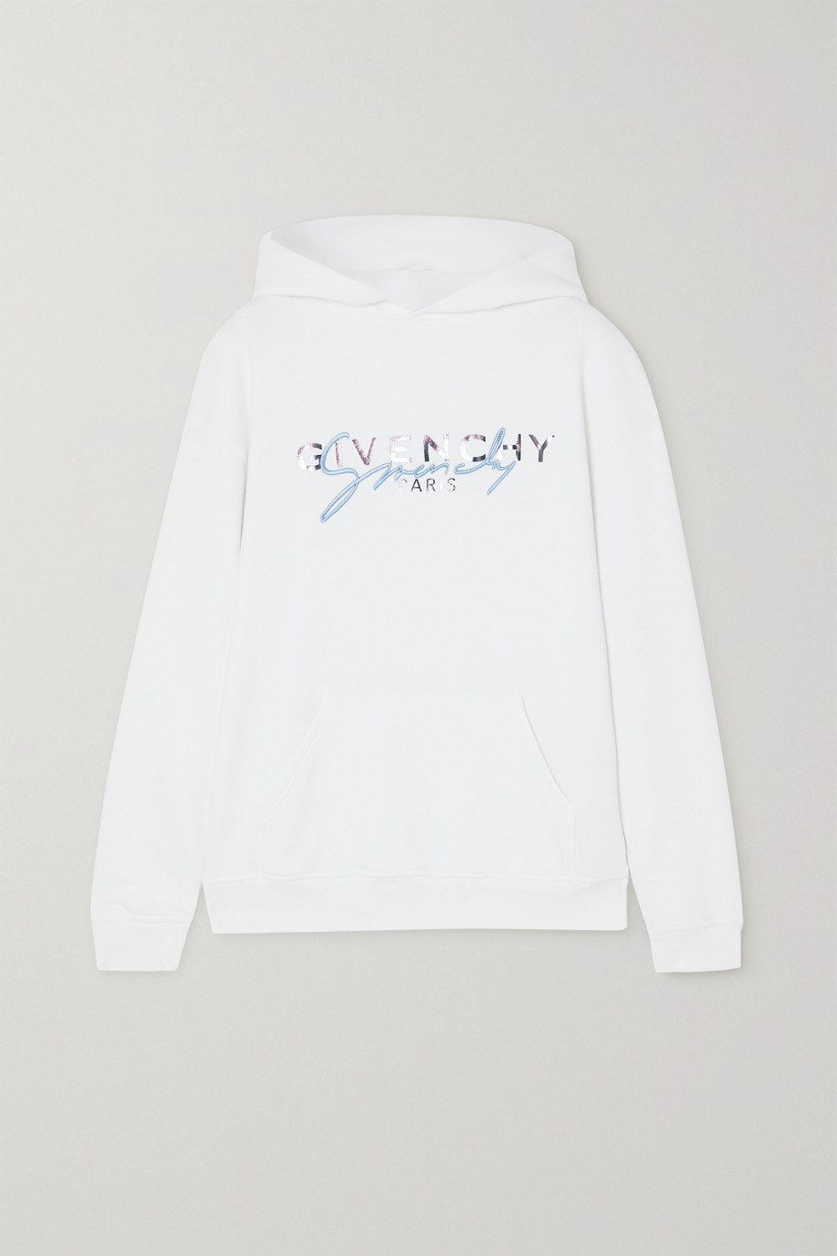 Givenchy Embroidered printed cotton-jersey hoodie