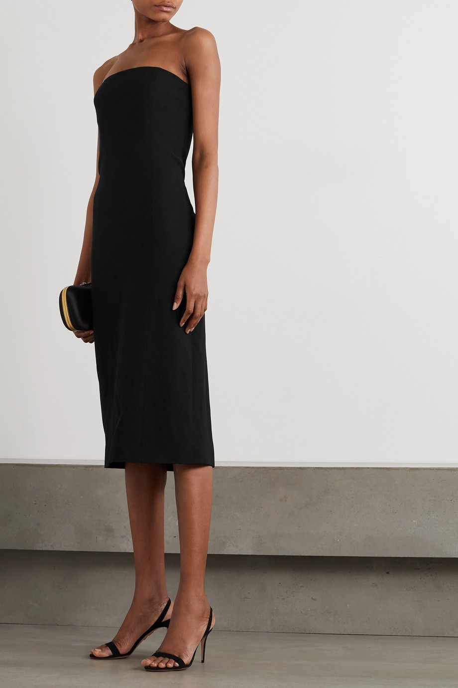 Givenchy Strapless crepe midi dress
