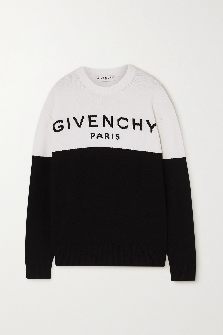 Givenchy Two-tone intarsia cashmere sweater