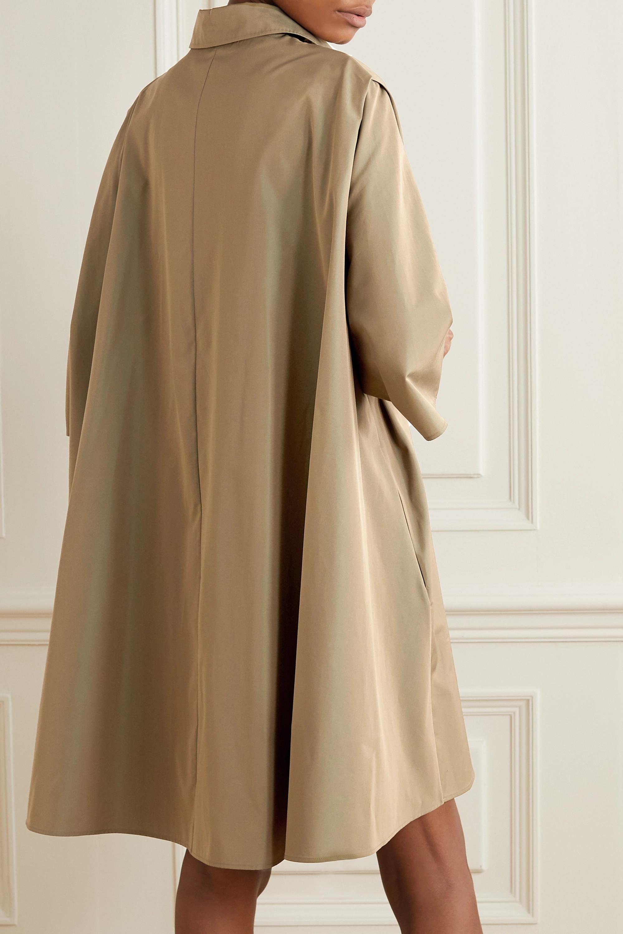 Givenchy Cape-effect belted cotton-poplin mini shirt dress