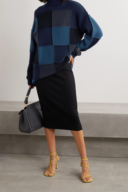 Givenchy Pull à col roulé oversize patchwork en cachemire